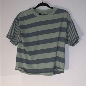 Green striped shirt